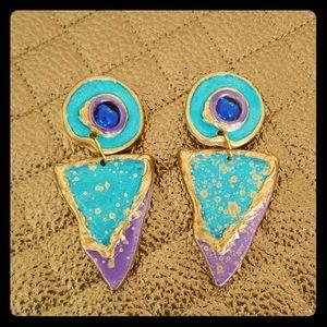 Vintage 80's clip earrings